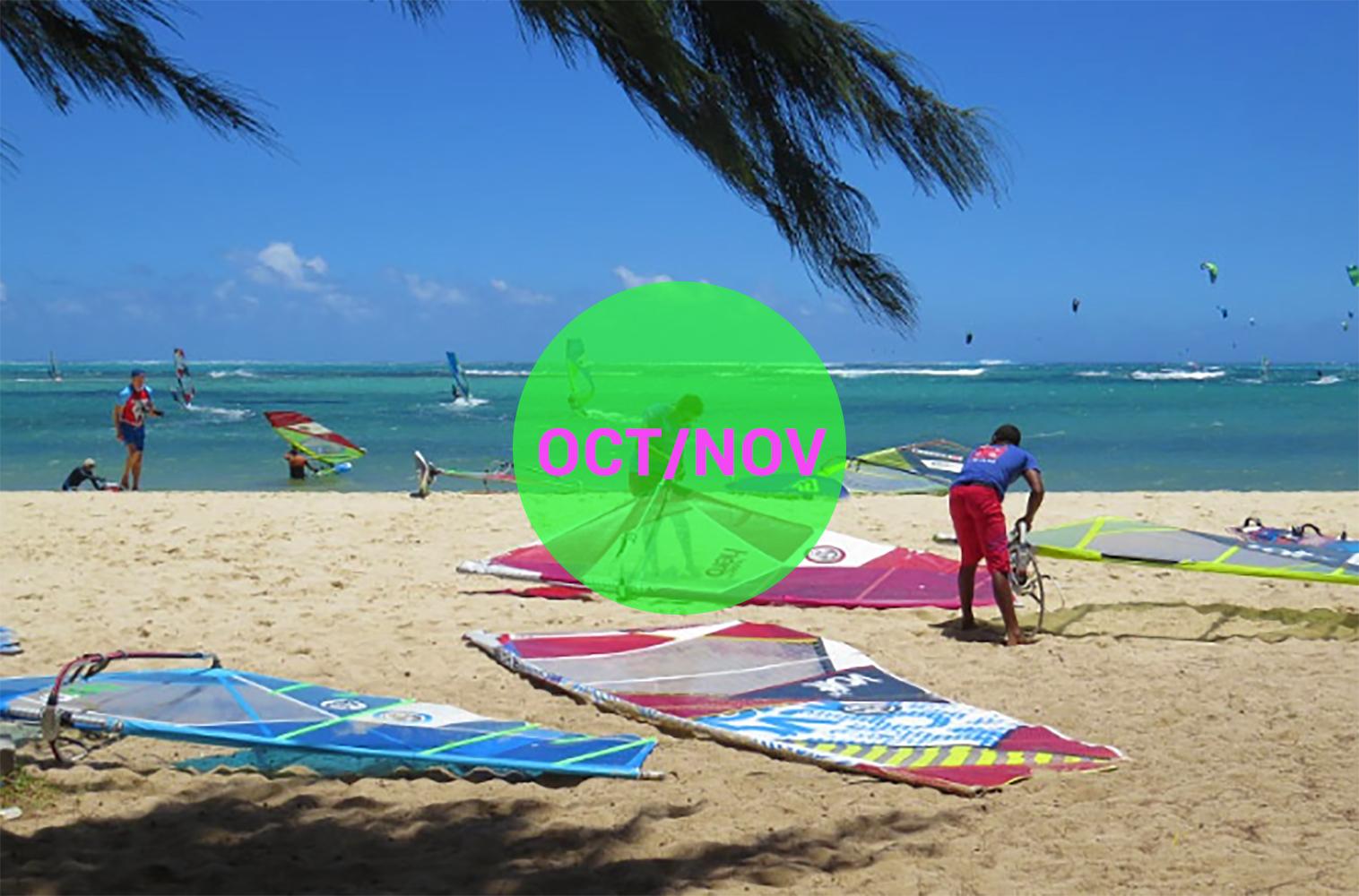 Windsurf courses on Mauritius october