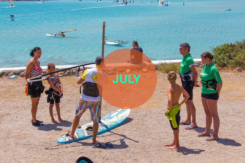 Windsurf courses July Karpathos